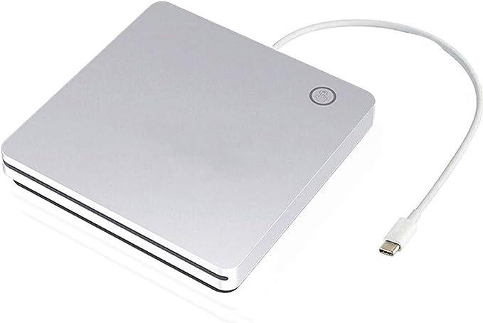 Amazon Com Ploveyy Usb C Superdrive External Dvd Cd Drive Dvd Cd Rw Rom Player Burner Writer Drive Compatible With Windows 10 8 7 Xp Vista Mac Os System For Mac Book Pro Air Laptop Desktop Silver
