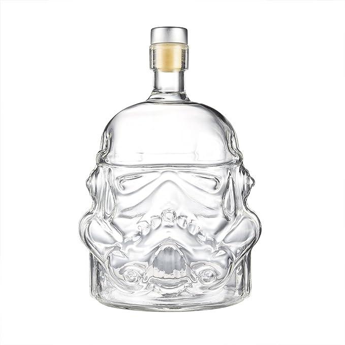uarter único Whisky termo botella de cristal jarra de cristal decantador Stormtrooper, apto para whisky, Vodka y vino, color transparente: Amazon.es: Hogar