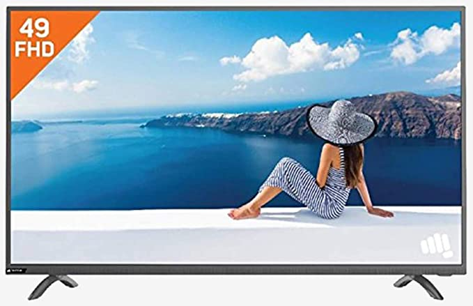 Micromax 127 cm  50 Inches  Full HD LED TV 50R2493FHD  Black  Standard Televisions