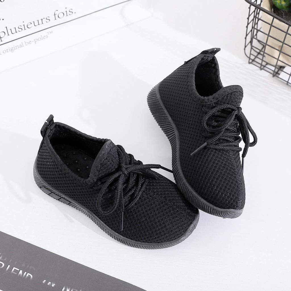 Leisuraly Kids Boys Girls Breathable Toddler Lightweight Walking Shoes Casual Fashion Sneakers ,Children Infant Kids Baby Girls Boys Solid Sport Running Sneakers Casual Shoes Toddler//Little Kid
