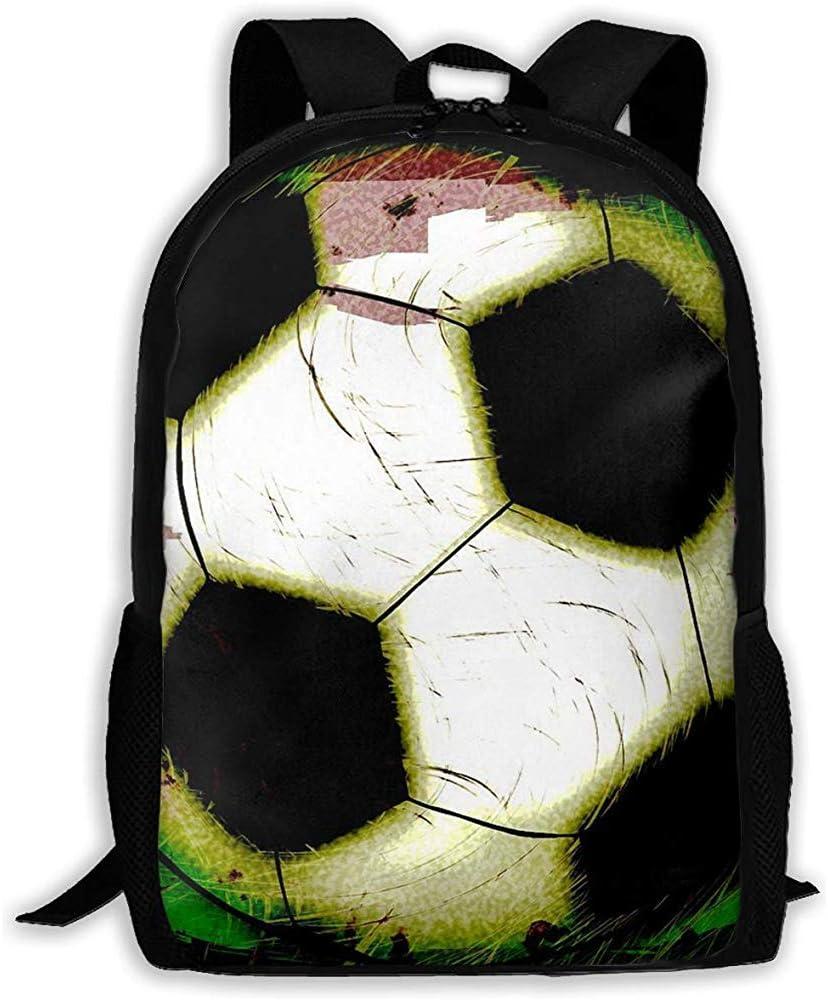 Mochila Bolsa,Resumen Grunge Balón De Fútbol Cremallera Mochila ...