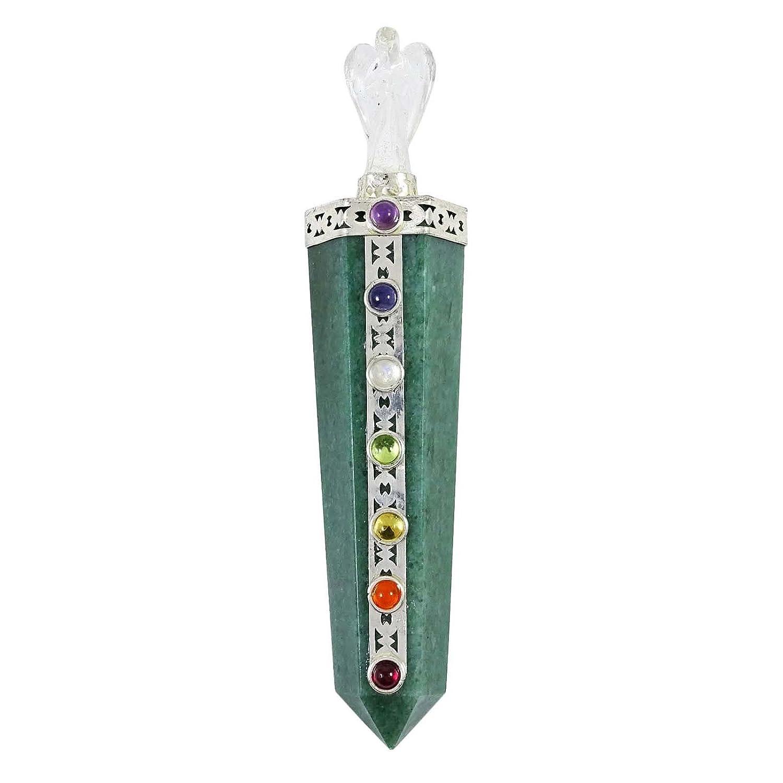 Aventurine Stone Wand Seven Chakra Gemstone Reiki Aura Angel Balancing Gift Ibacrafts