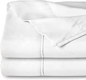 Bare Home Flat Top Sheet Premium 1800 Ultra-Soft Microfiber Collection - Double Brushed, Hypoallergenic, Wrinkle Resistant, Easy Care (Queen - 2 Pack, White)