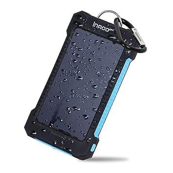 Innoo Tech Cargador Solar 10000mAh,Power Bank portátil con Batería Externa y Protección IP65(a Prueba de Golpes,Agua,Polvo),Indicadores y Linterna LED ...