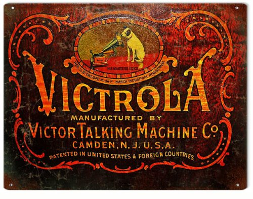 Victrola Phonograph By Victor Talking Machine Nostalgic Ad Reproduction Sign