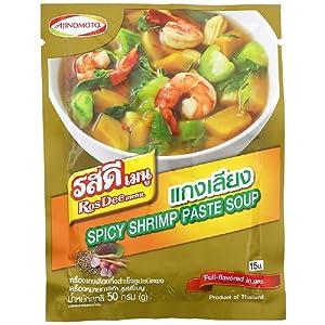 RosDee menu, Spicy Shrimp Paste Soup Powder, Kaeang Liang Powder 60g X 3 Packs