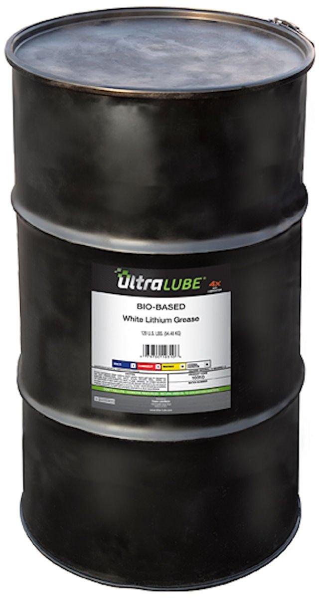 Ultra Lube 10310 White Lithium Biobased Grease- 120 Lbs Metal Drum by Lubrimatic