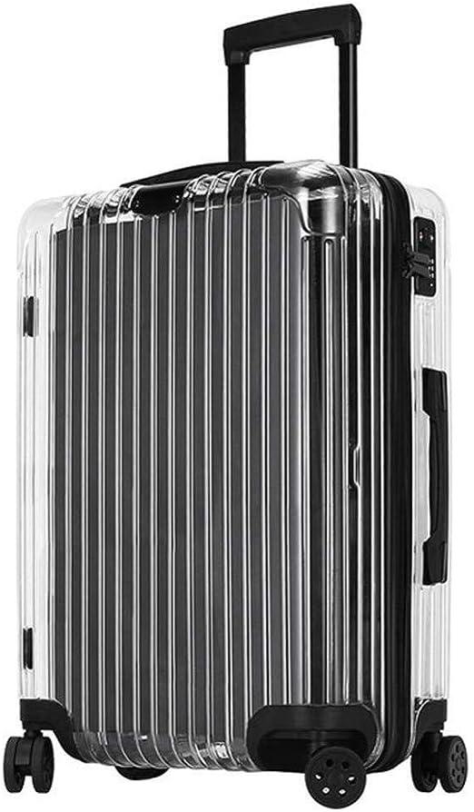 Maleta Transparente De 20 Pulgadas Bolsa De Trolley De Equipaje De Viaje Para Hombres De Negocios Cabina De Estudiantes Con Rueda Y Cerradura TSA: Amazon.es: Hogar