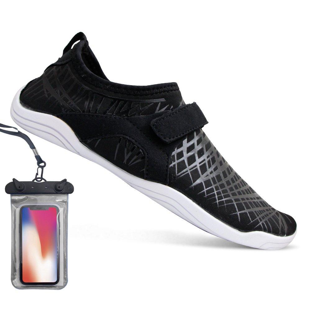 Barefoot Running Shoes Water Sports Shoes Quick-Dry Aqua Shoes for Women Men (EU41 (10 Women/8 Men), Black)