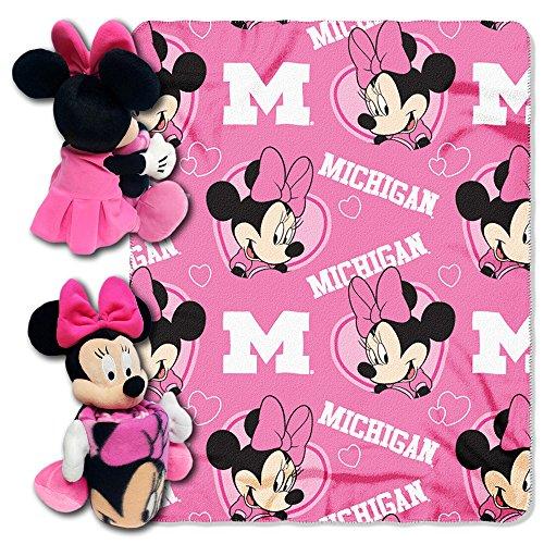 ncaa-michigan-wolverines-minnie-cheerleader-40x50-inch-throw-with-14-inch-hugger