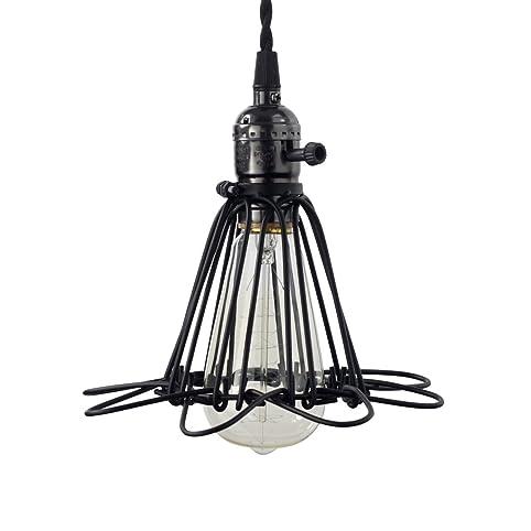 Vintage Cage Pendant Light Fixture For Kitchen Island Edison Bulb - Kitchen light fixtures edison bulb