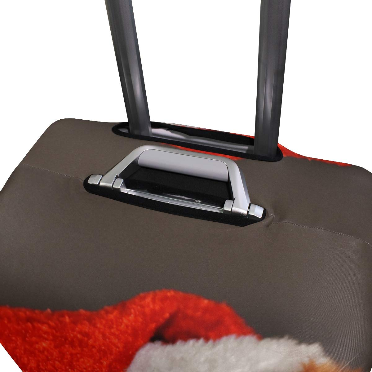 Travel Luggage Cover Cat Red Christmas Santa Hat Funny Cute Mackerel Suitcase Protector Fits 18-20 Inch Washable Baggage Covers
