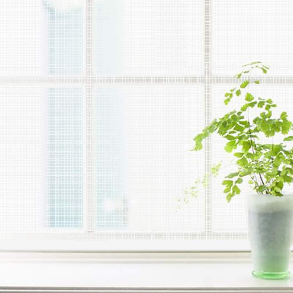 MJMZNDQ Self-Adhesive Window Screen Netting,Mosquito Window Netting,Easy to Install and Remove,Anti Mosquito Window net mesh Easy to Clean,Black White,White,180x170cm(71x67inch) by MJMZNDQ (Image #1)