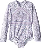 Seafolly Little Girls 'L / S Surf Tank Traje de baño de una pieza, Multi, 7