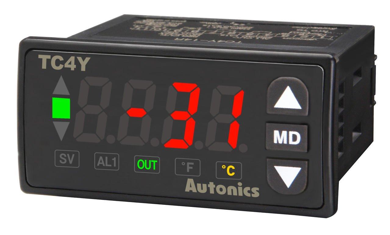 Autonics TC4Y-14R Temp Control, Size 36 X 72mm, Single display, 4 Digit, PID Control, Relay & SSR Output, 1 Alarm Output, 100-240 VAC