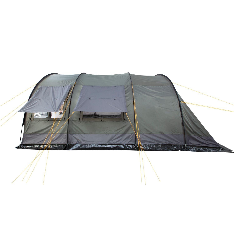 CampFeuer Tente tunnel pour 4 personnes Vert olive//gris 5/m