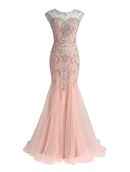 Dressesonline Womens Beaded Prom Dresses Long Mermaid Luxury Evening Dresses 2