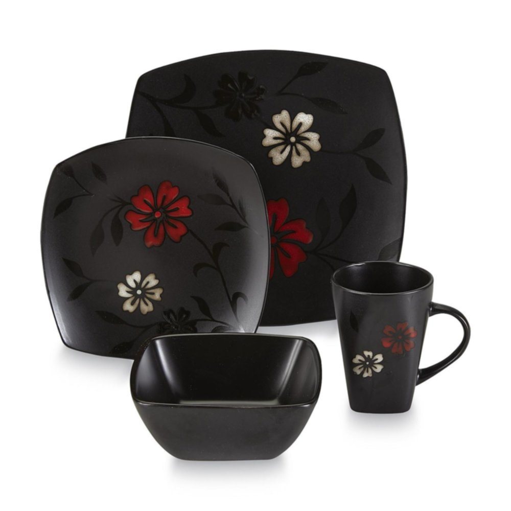 Gibson 99104.16 Dinnerware Set 16pc Essential Home Series Mystic Floral Home & Garden