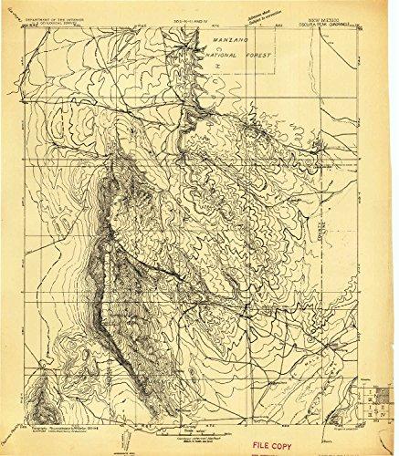 ak NM topo map, 1:125000 Scale, 30 X 30 Minute, Historical, 1918, 20 x 17.5 in - Tyvek ()