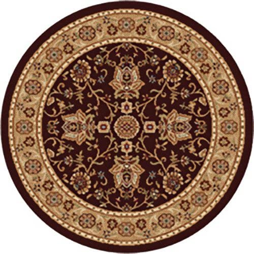 Home Dynamix Madlena Area Rug 5 2 X 7 2 Round, Oriental Brown Gold