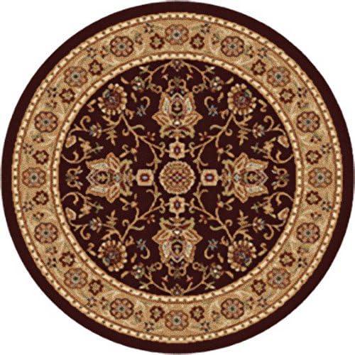Home Dynamix Madlena Area Rug 5 2 X 7 2 Round, Oriental Brown Gold