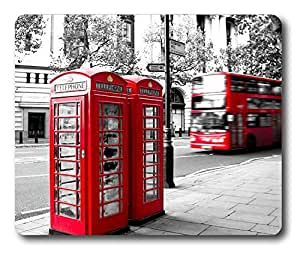 London Stree Telephone Booth Easter Thanksgiving Personlized Masterpiece Limited Design Oblong Mouse Pad by Cases & Mousepads