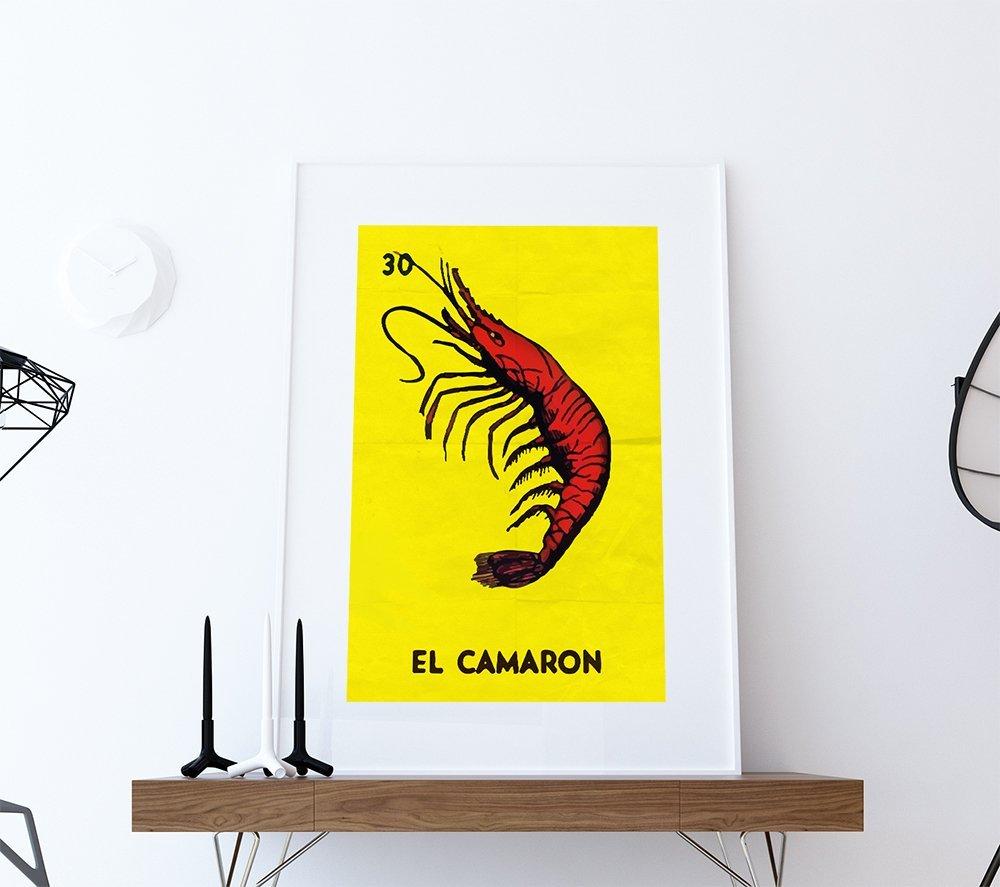 Amazon.com: Loteria El Camaron Mexican Retro Illustration Art Print ...