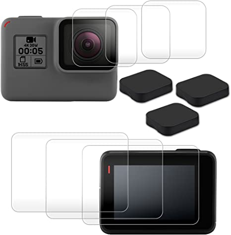 2018 5 PCS Lens Cap Cover and Screen Protector Film Accessories KELIFANG Screen Protector Compatible with New Gopro Hero 7 Black // Hero 6 // 5 Black Action Camera with Lens Protector