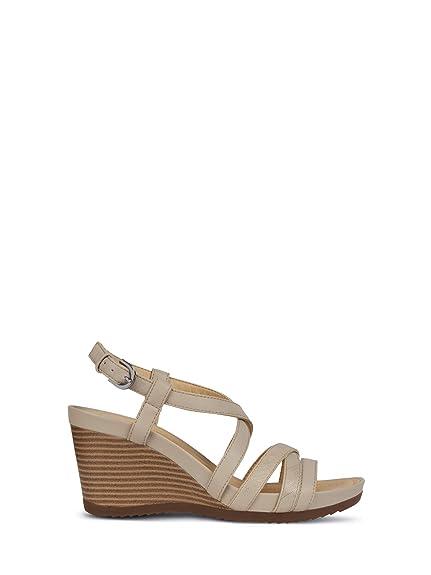 Blanc Rorie Chaussures Femme New B Geox Cuir D En D92p3b Sandales 7gYybf6v
