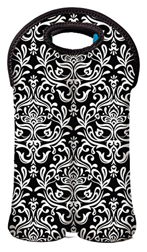 NY 2 Bottle Neoprene Bottle Damask