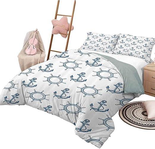 Next Oversized Gingham Baby Blue Nautical Single Bedset