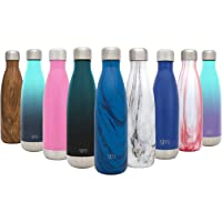 Simple Modern Wave Termo Botella de Agua - Acero Inoxidable 18/8, Doble Pared y Aislamiento Al Cacío - 4 Tamaños, 26 Colores