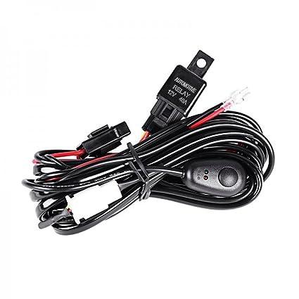 61bsCwOQoFL._SX425_ amazon com weisiji off road atv jeep led light bar wiring harness