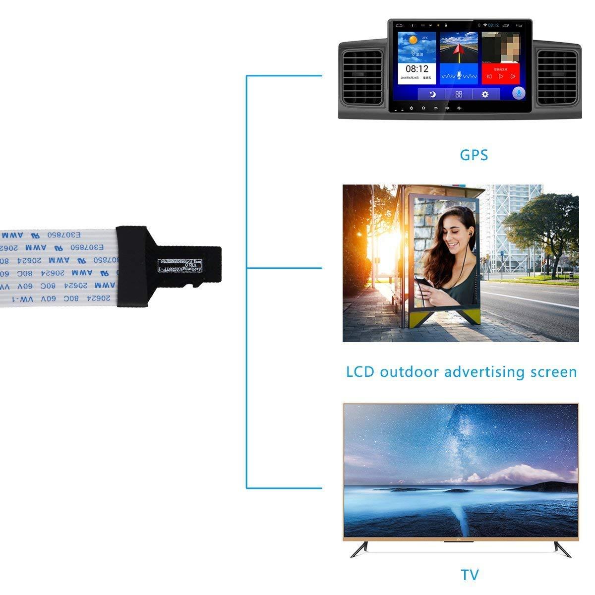 TF Adaptador de cable flexible Tarjeta Micro-SD 48cm Elium Cable Extension Micro-SD Impresora 3D compatible I GPS I Raspberry Pi 10.90inch