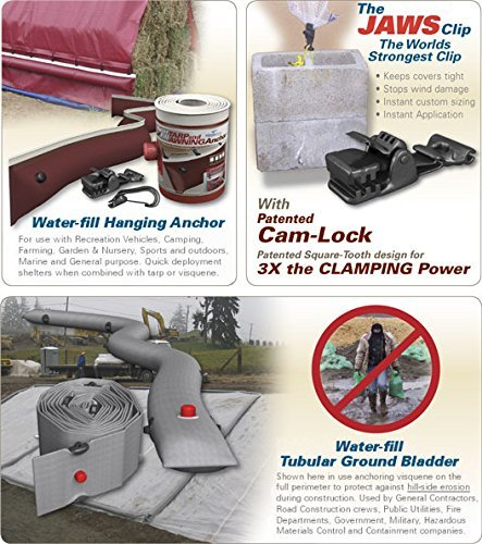 The Dirty Gardener Universal Heavy Duty Locking Jaws Clip/Tarp Clamp - 100 Count