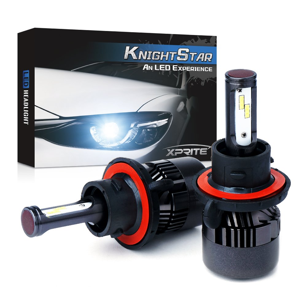 Extremely Brigh SEOUL CSP CHIP Xprite Knight Star LED Headlight Bulbs Conversion Kit H13 8000Lumens 6000K All-IN-ONE