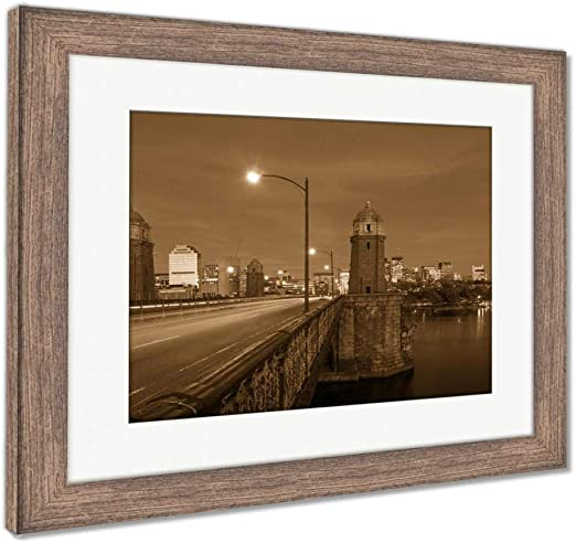 Brown Photo Poster Print Art Picture Barn Wood Frame Wall Home Decor