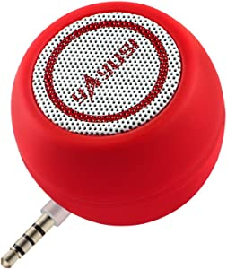 Portable Mini Speaker for iPhone/iPad/iPod/Tablet, 3W Cellphone Speaker with 3.5mm Aux Input, Clear Loud Sound in Compact Golf Size Body (Passion Red)