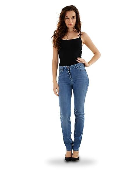2106420d79 Ex Highstreet Ladies Straight Leg Jeans Womens Denim Blue Indigo Sizes  8-26  Amazon.co.uk  Clothing