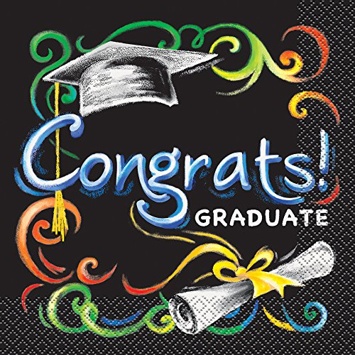Chalkboard Graduation Party Napkins 16ct