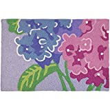 Jellybean Hydrangeas Floral Indoor/Outdoor Machine Washable 21″ x 33″ Accent Rug Review