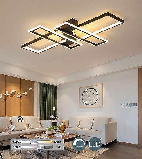 Kbest Plafonnier Led 68w Dimmable Salon Lampe Avec Telecommande