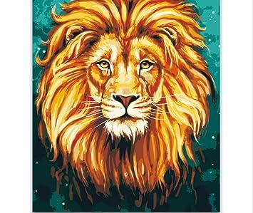 Sin Marco Animal Africa Lion King Cuadro De Pintura De Bricolaje