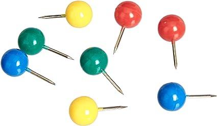 100 Punaises Multicolores Pour Punaises Tête Ronde Avec Pointe En Acier