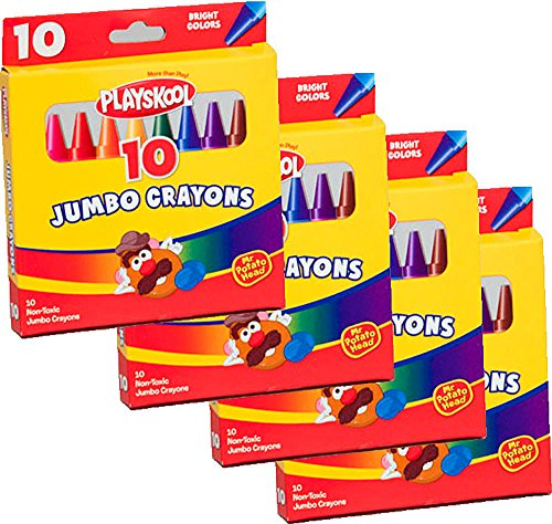 (Playskool Jumbo Crayons 10 Count (4 Packs))