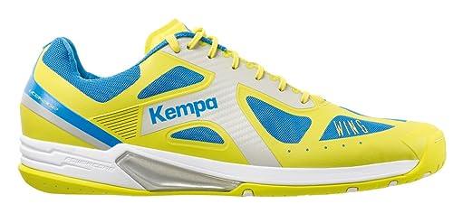 Kempa Wing Lite, Scarpe da Pallamano Unisex - Adulto, Giallo (Jaune Spring/Bleu Cendré), 46 EU