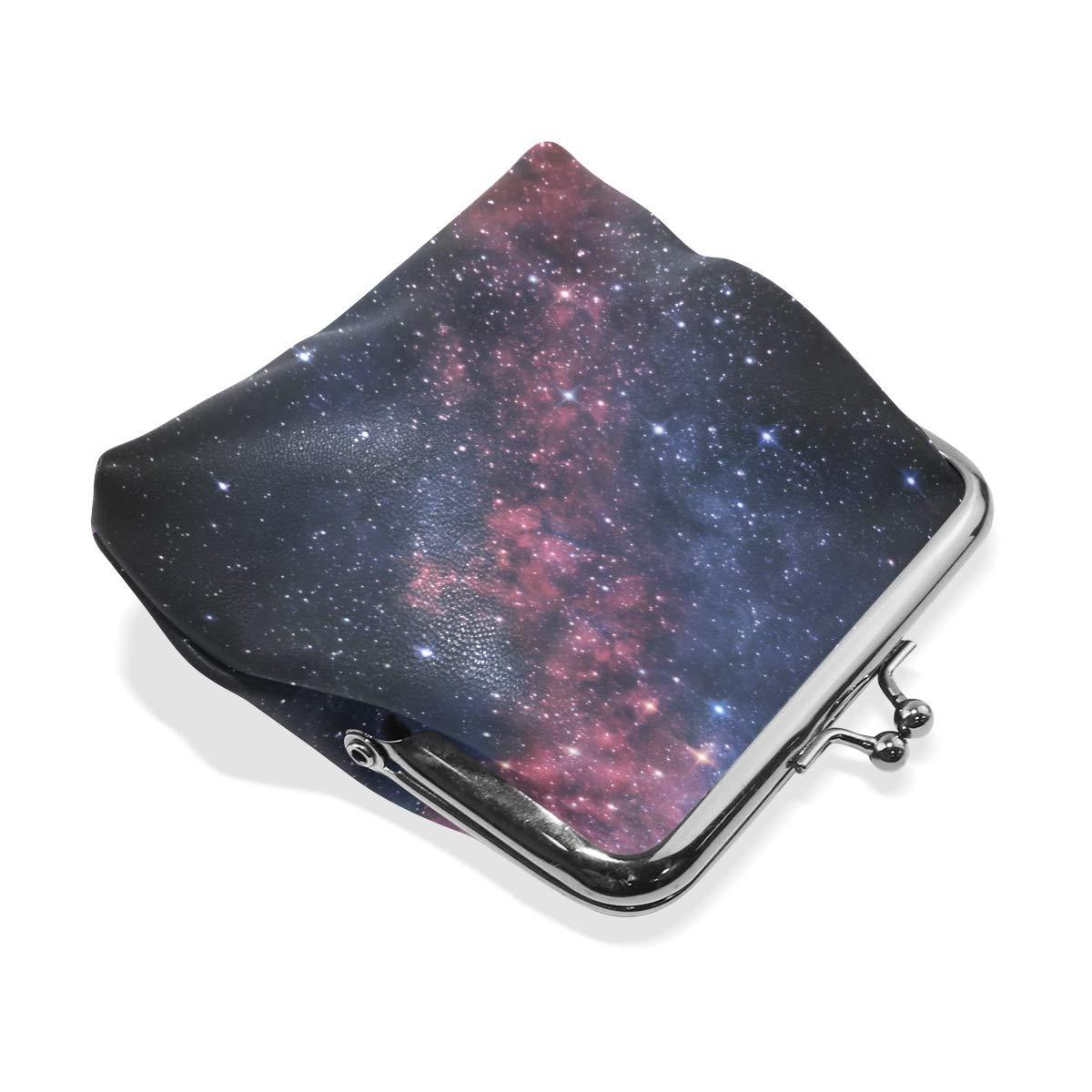 MALPLENA Stars Galaxy Travel Purse Coin case PU leather purse