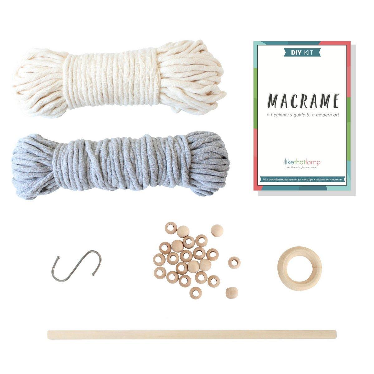2 Macrame Kits in 1 – Macrame Wall Hanging Kit and Macrame Plant Hanger Kit - Complete Macrame Starter Kit with Macrame Supplies