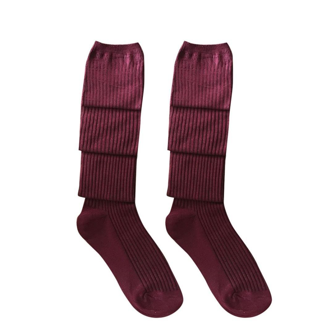 OHQ Socken Oberschenkel hoch /über dem Knie Socken lange Baumwolle Str/ümpfe warm f/ür M/ädchen Damen Frauen