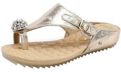 AgeeMi Shoes Damen Rund Offener Zehe Flip Flops Diamant Keilabsatz Sandalen,EuL09 Schwarz 36